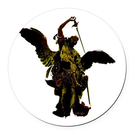 angel1a2dlg.png Round Car Magnet