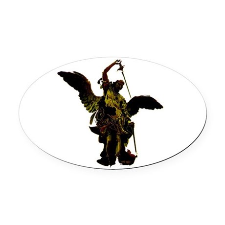 angel1a2dlg.png Oval Car Magnet