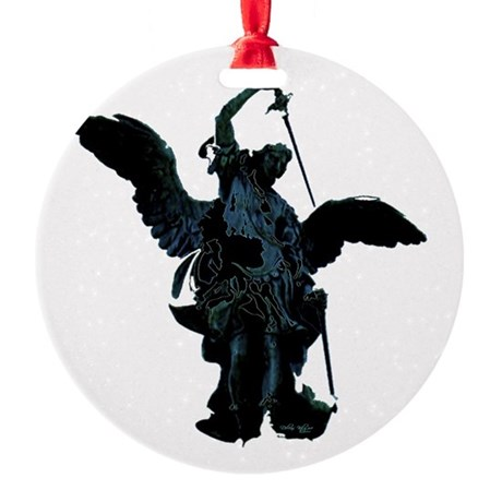 angel1.png Round Ornament