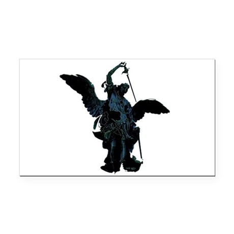 angel1.png Rectangle Car Magnet