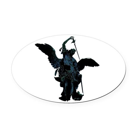 angel1.png Oval Car Magnet