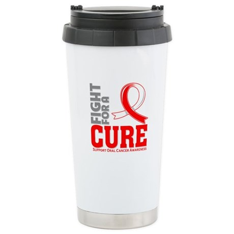 Oral Cancer Fight For A Cure Ceramic Travel Mug