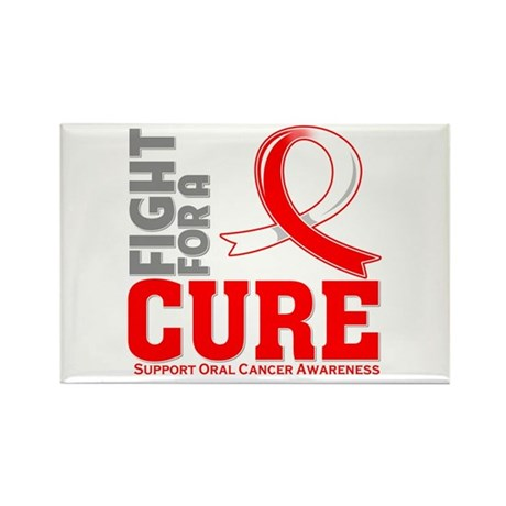 Oral Cancer Fight For A Cure Rectangle Magnet