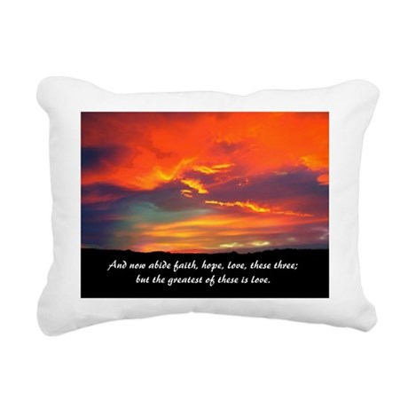Love Faith Hope Rectangular Canvas Pillow