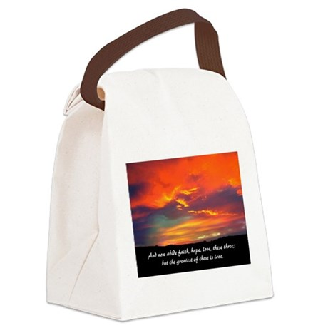 Love Faith Hope Canvas Lunch Bag