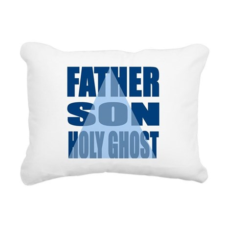 Dark Blue Trinity Rectangular Canvas Pillow
