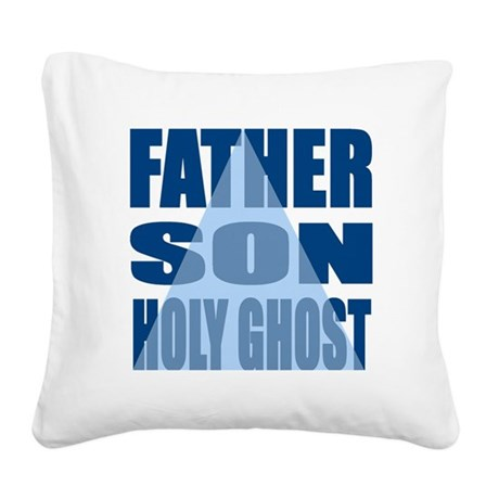 Dark Blue Trinity Square Canvas Pillow