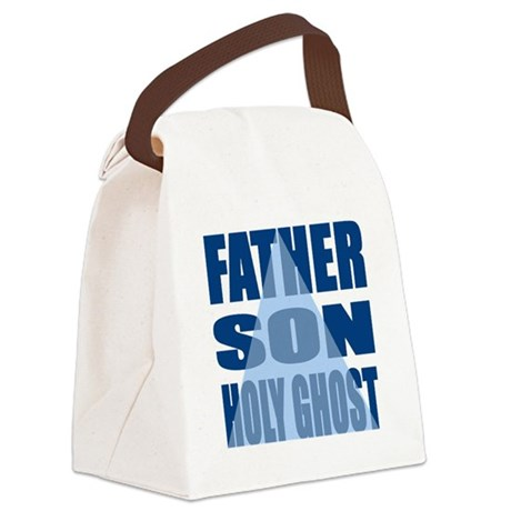 Dark Blue Trinity Canvas Lunch Bag