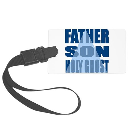 Dark Blue Trinity Large Luggage Tag