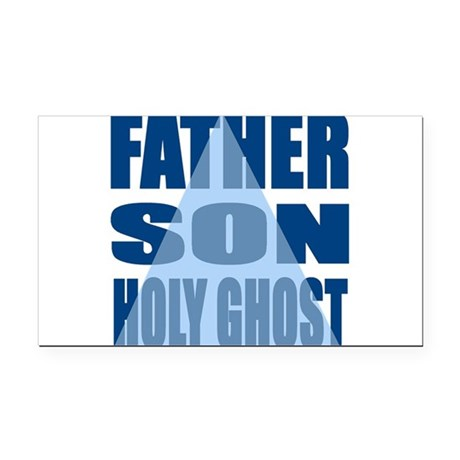 Dark Blue Trinity Rectangle Car Magnet