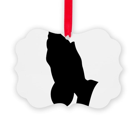 prayinghands.png Picture Ornament