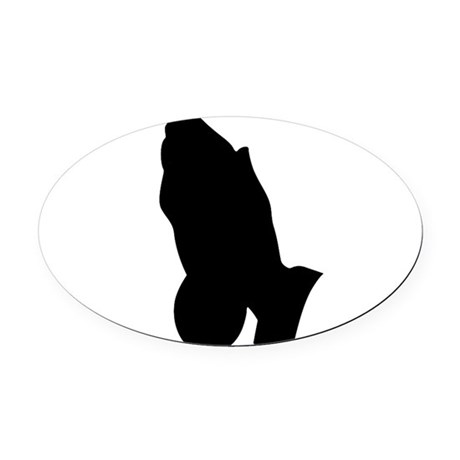 prayinghands.png Oval Car Magnet