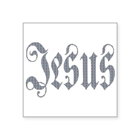 "Jesus Square Sticker 3"" x 3"""