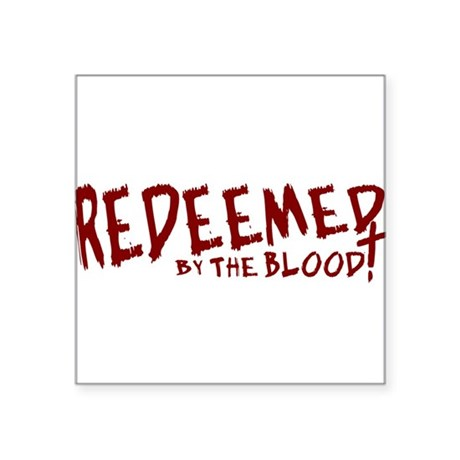 "reedeemed2.png Square Sticker 3"" x 3"""