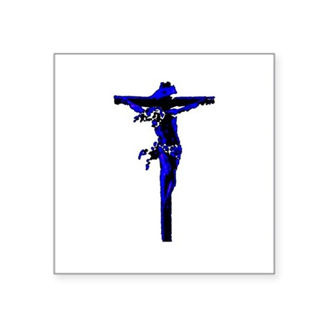 "Jesus19.png Square Sticker 3"" x 3"""