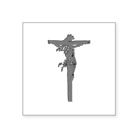 "Jesus16b.png Square Sticker 3"" x 3"""