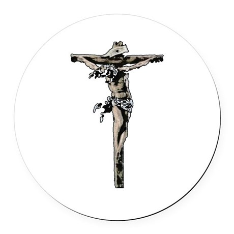 Jesus17b.png Round Car Magnet