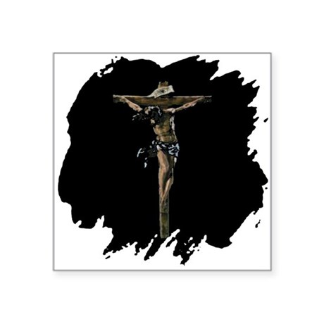"Jesus14b.png Square Sticker 3"" x 3"""