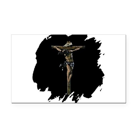 Jesus14b.png Rectangle Car Magnet