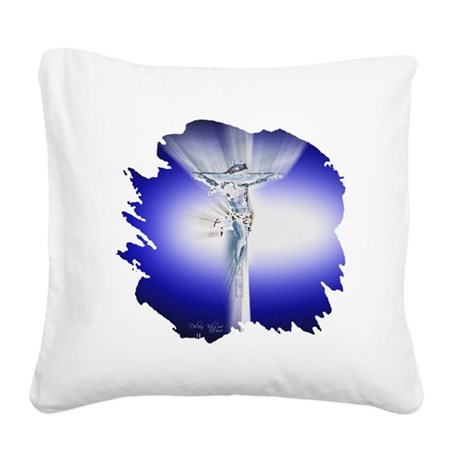 Jesus23amed.jpg Square Canvas Pillow