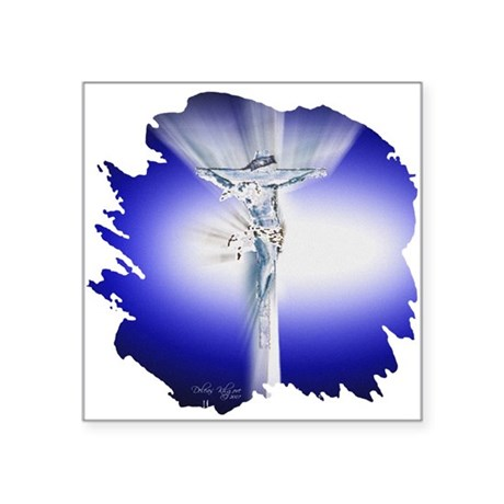 "Jesus23amed.jpg Square Sticker 3"" x 3"""
