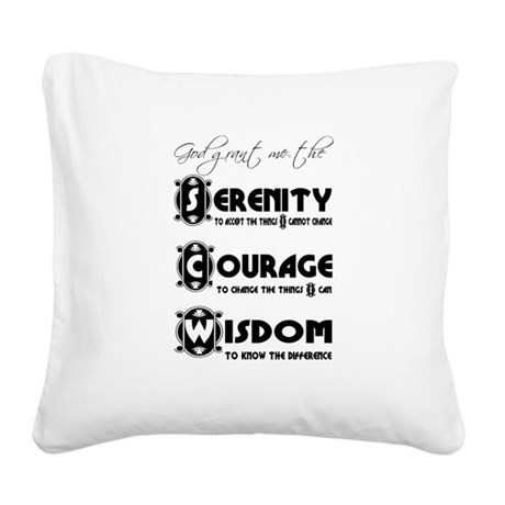 serenity3.png Square Canvas Pillow
