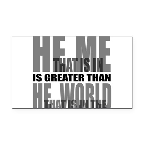 He is Greater Rectangle Car Magnet