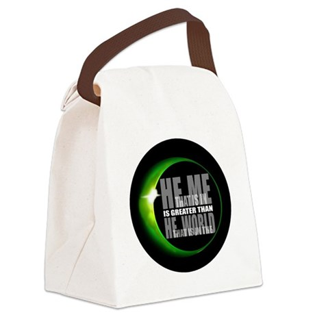 heisgreater3.png Canvas Lunch Bag