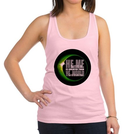heisgreater3.png Racerback Tank Top