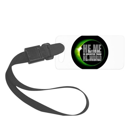 heisgreater3.png Small Luggage Tag