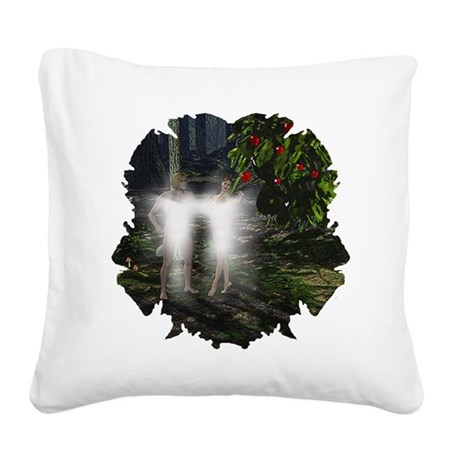 adameveclk5.jpg Square Canvas Pillow