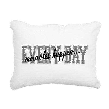 miracles Rectangular Canvas Pillow