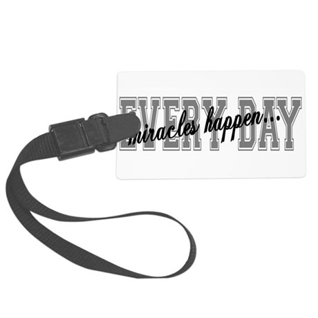 miracles Large Luggage Tag