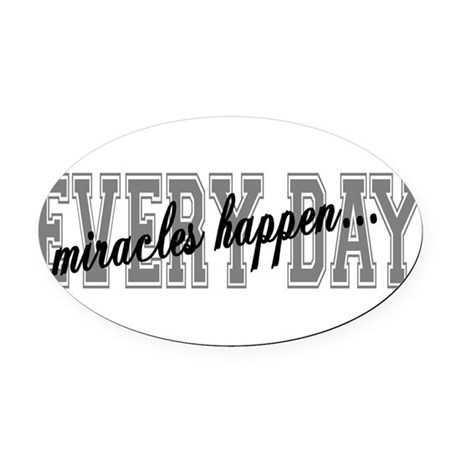 miracles Oval Car Magnet