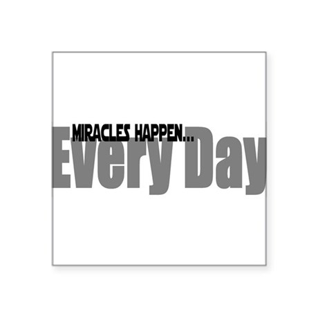 miracles Square Sticker 3&quot; x 3&quot;
