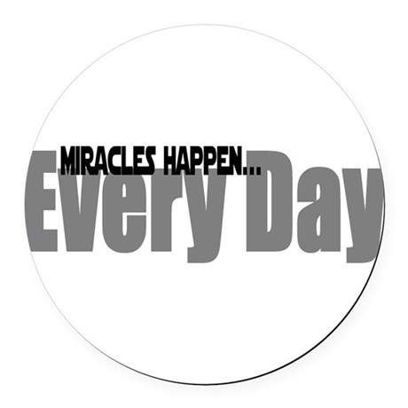miracles Round Car Magnet