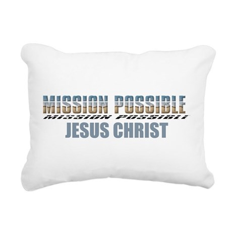 Jesus Christ Rectangular Canvas Pillow