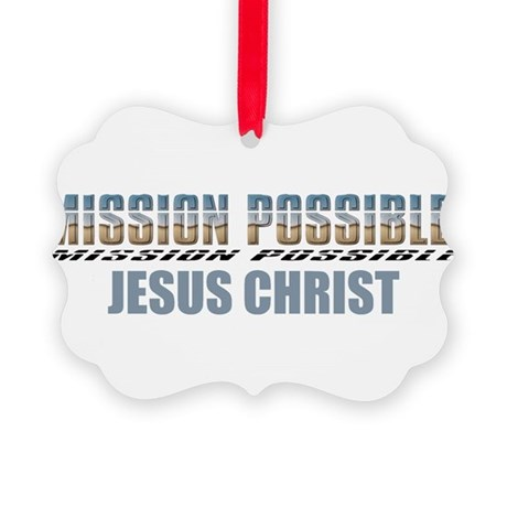 Jesus Christ Picture Ornament