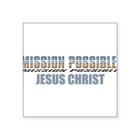 "Jesus Christ Square Sticker 3"" x 3"""