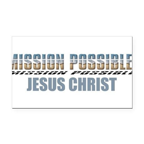 Jesus Christ Rectangle Car Magnet