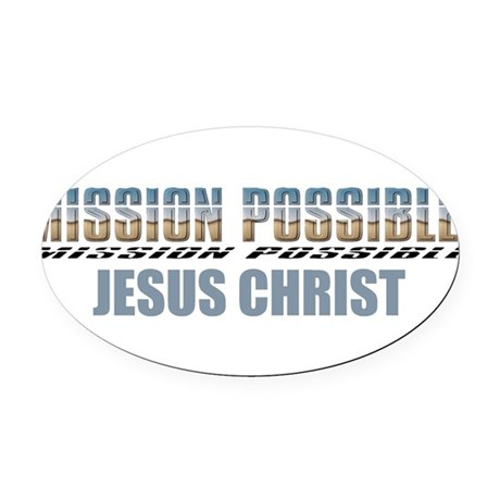 Jesus Christ Oval Car Magnet