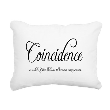 coincidence Rectangular Canvas Pillow