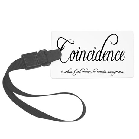coincidence Large Luggage Tag