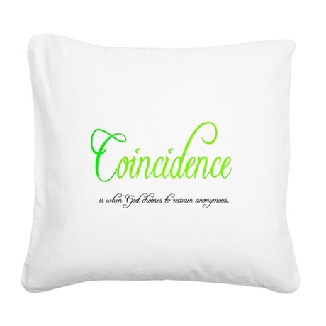coincidence Square Canvas Pillow
