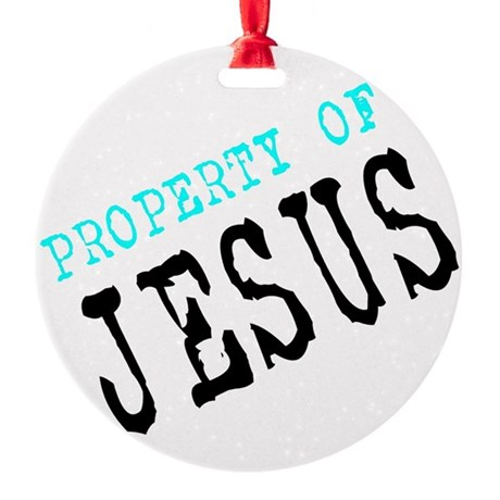 Property of Jesus Round Ornament