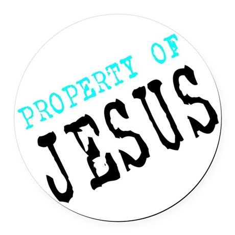 Property of Jesus Round Car Magnet