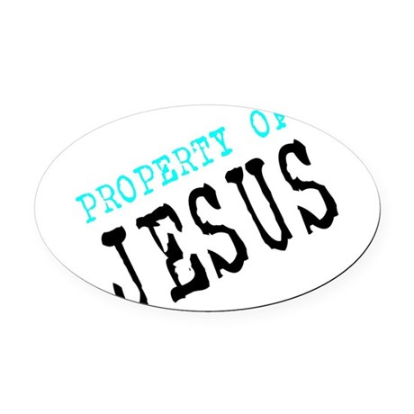 Property of Jesus Oval Car Magnet