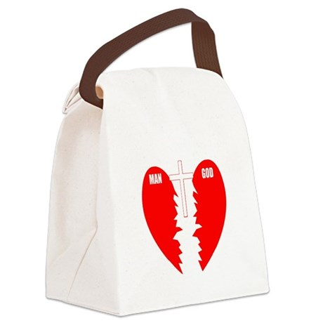 cross bridge Canvas Lunch Bag