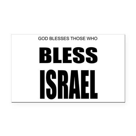 Israel Rectangle Car Magnet