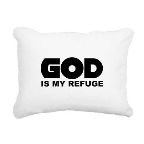 God is Refuge Rectangular Canvas Pillow